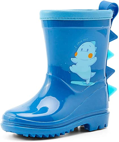 Silky Toes Girls Boys Printed Rain Boots for Kids Waterproof Toddler Little//Big Kids Classic Wellies