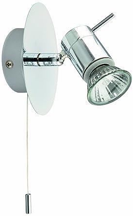 Briloner Leuchten Bad Wandleuchte, Wandlampe, Wandstrahler, 1 X GU10, 35W,