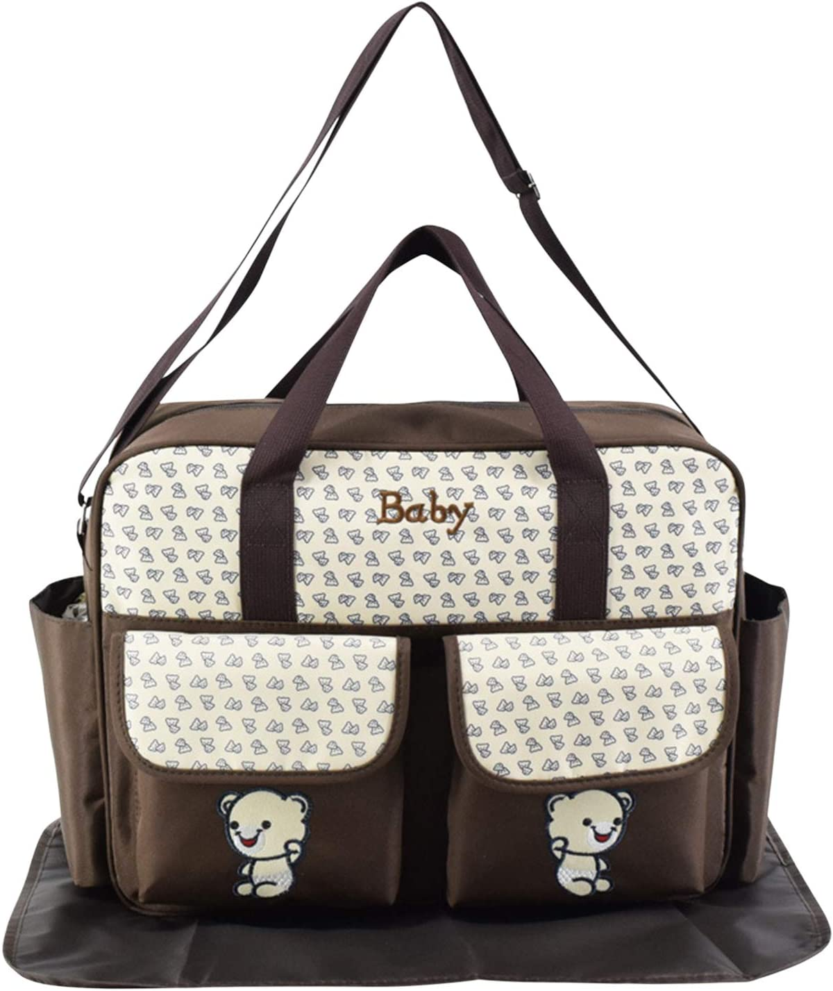 Boodtag Cute Nappy Changing Bag Handbags for Mummy Animal Print Large Capacity Baby Diaper Totes Rose