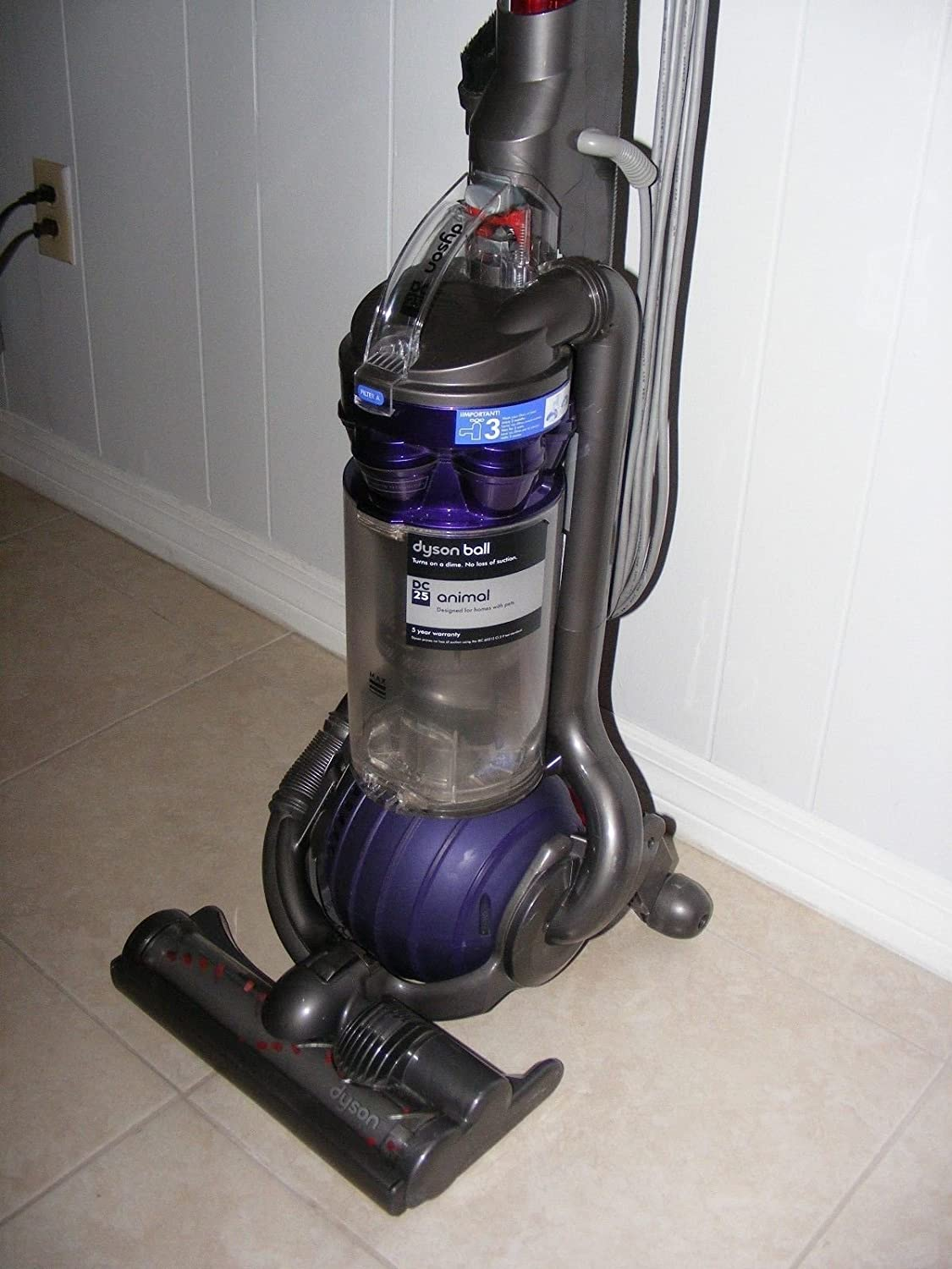 Amazon.com - Dyson DC25 Animal Ball-Technology Upright Vacuum Cleaner -  Household Upright Vacuums