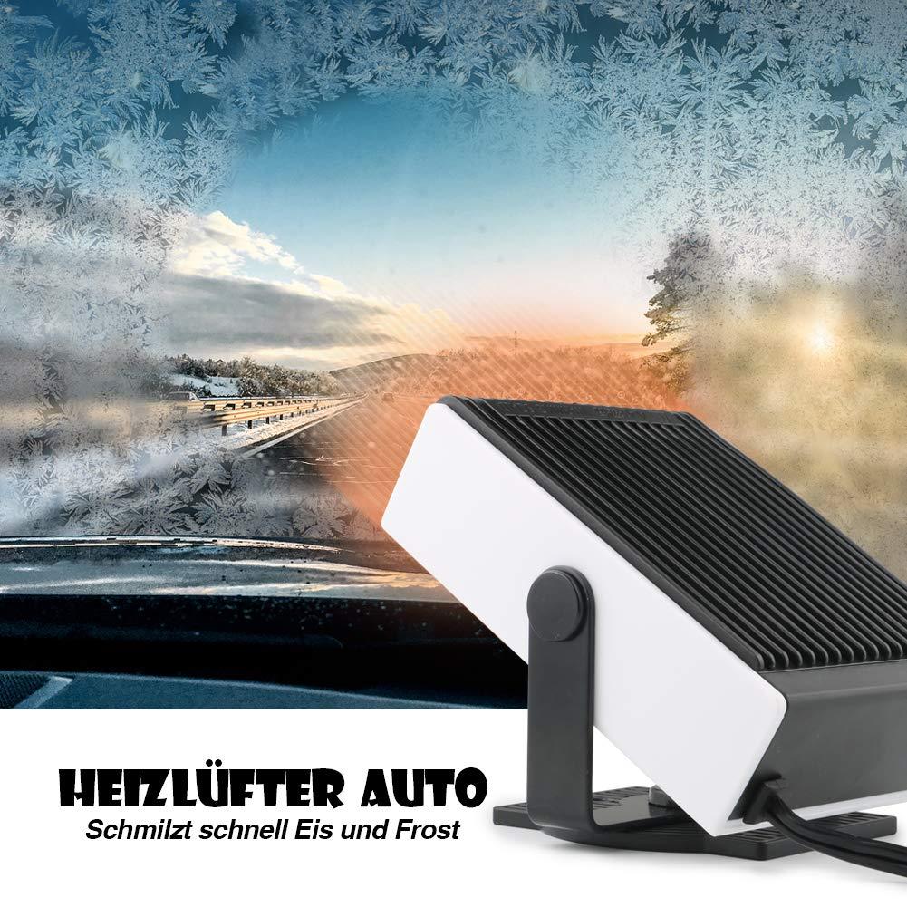 Fengzio Riscaldamento Auto 2 in 1 Riscaldatore portatile per auto 12V//150W Sbrinatore Parabrezza da Auto ventilatore portatile per veicoli con supporto girevole a 360 gradi