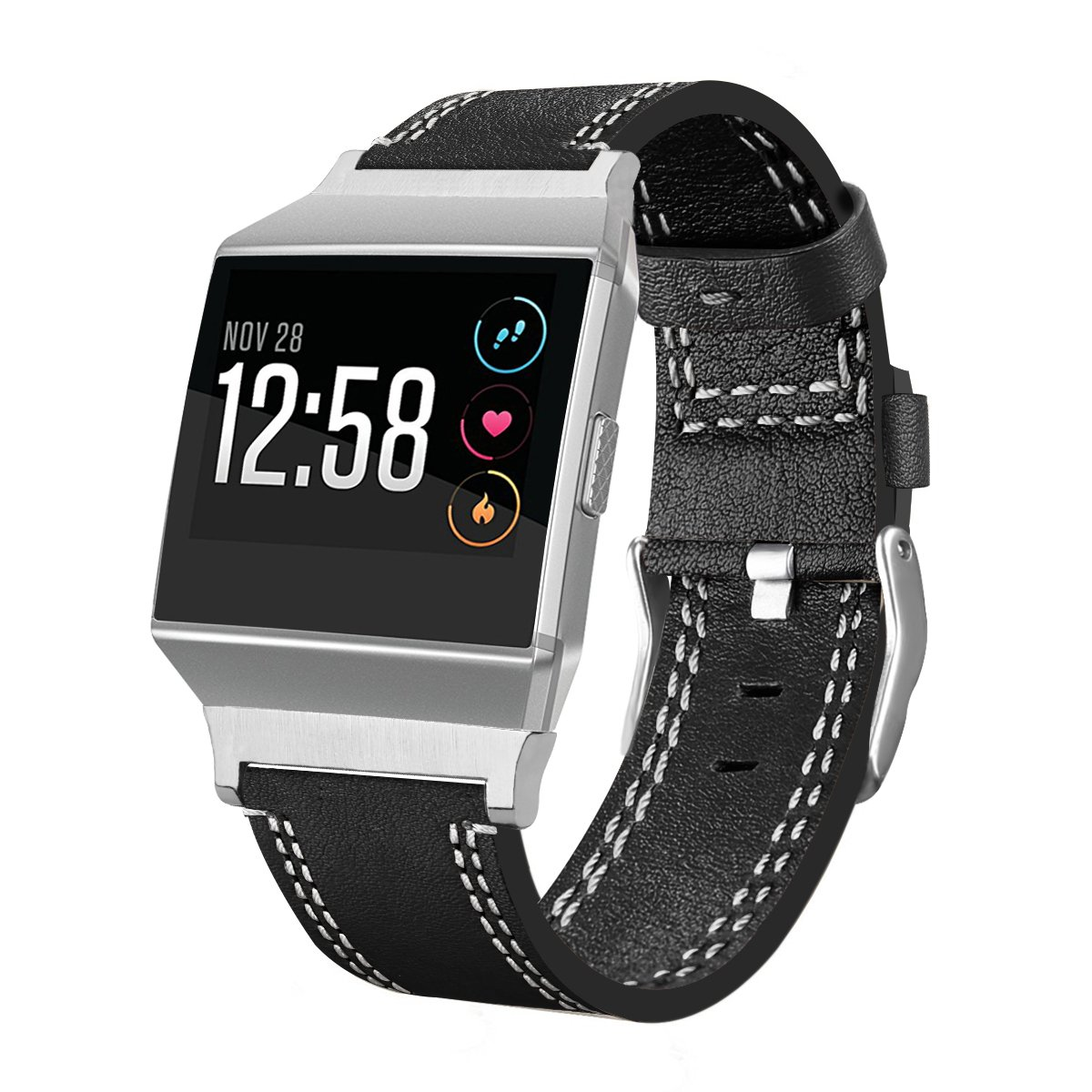 huameclソフト高級本革バンドブレスレットリストバンド交換用for Fitbit Ionic Smart Watch Fitbit Ionic Huamecl  Wire Black Fitbit Ionic B078FBL3Z4