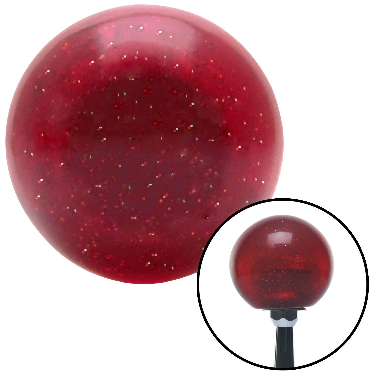 American Shifter 83623 Sparkle Red Metal Flake Shift Knob with M16 x 1.5 Insert Round Metal Flake