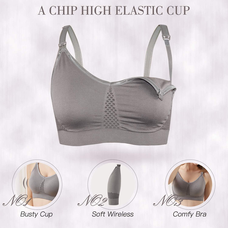 Clip Down Cups Maternity Schwangerschafts BH Ritera Damen 3er Still-BH Schwangerschaft ohne B/ügel Nahtlose