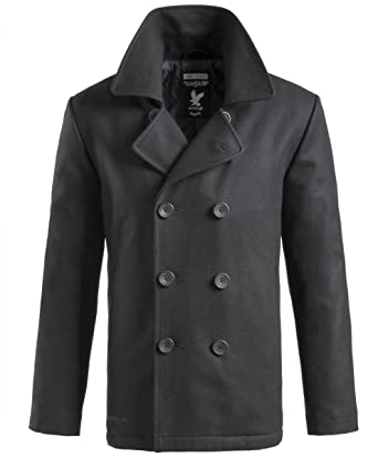 Amazon.com: Surplus Pea Coat Black: Clothing
