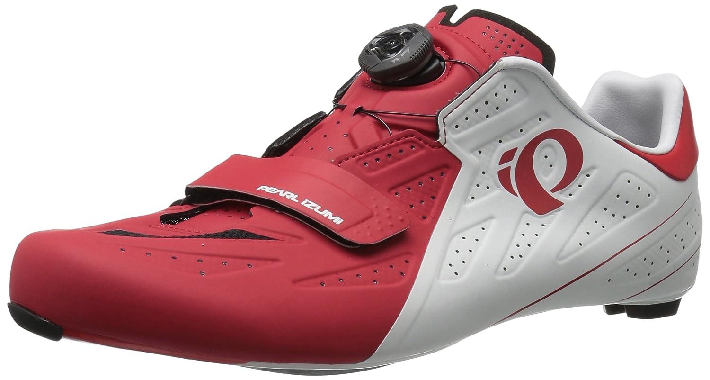 Pearl iZUMi Men's Elite Road v5 Cycling-Footwear B01GH92U4Q 42.5 EU/8.9 D US|White/True Red