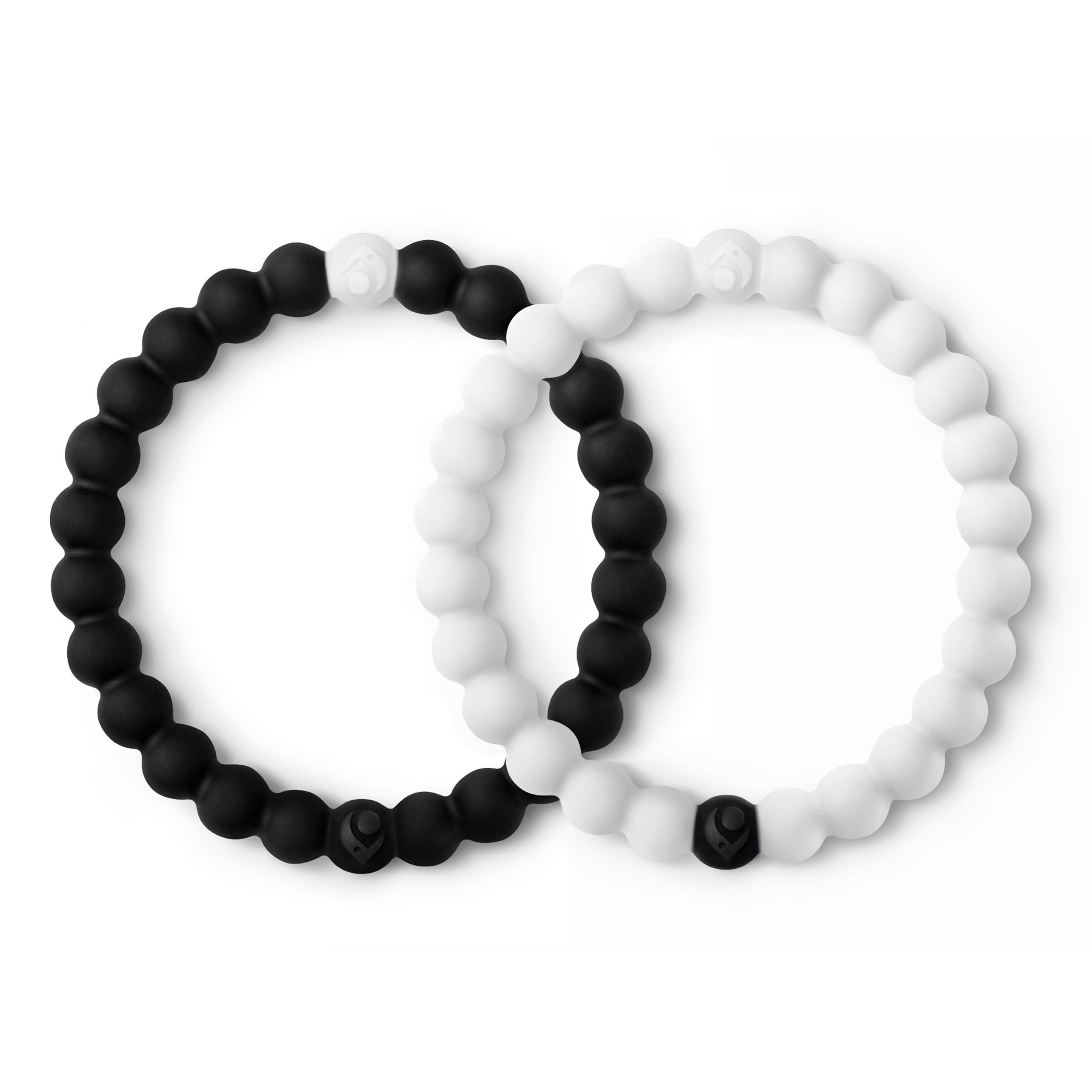 Lokai Black & White Bracelet Set, 6.5'' – Medium