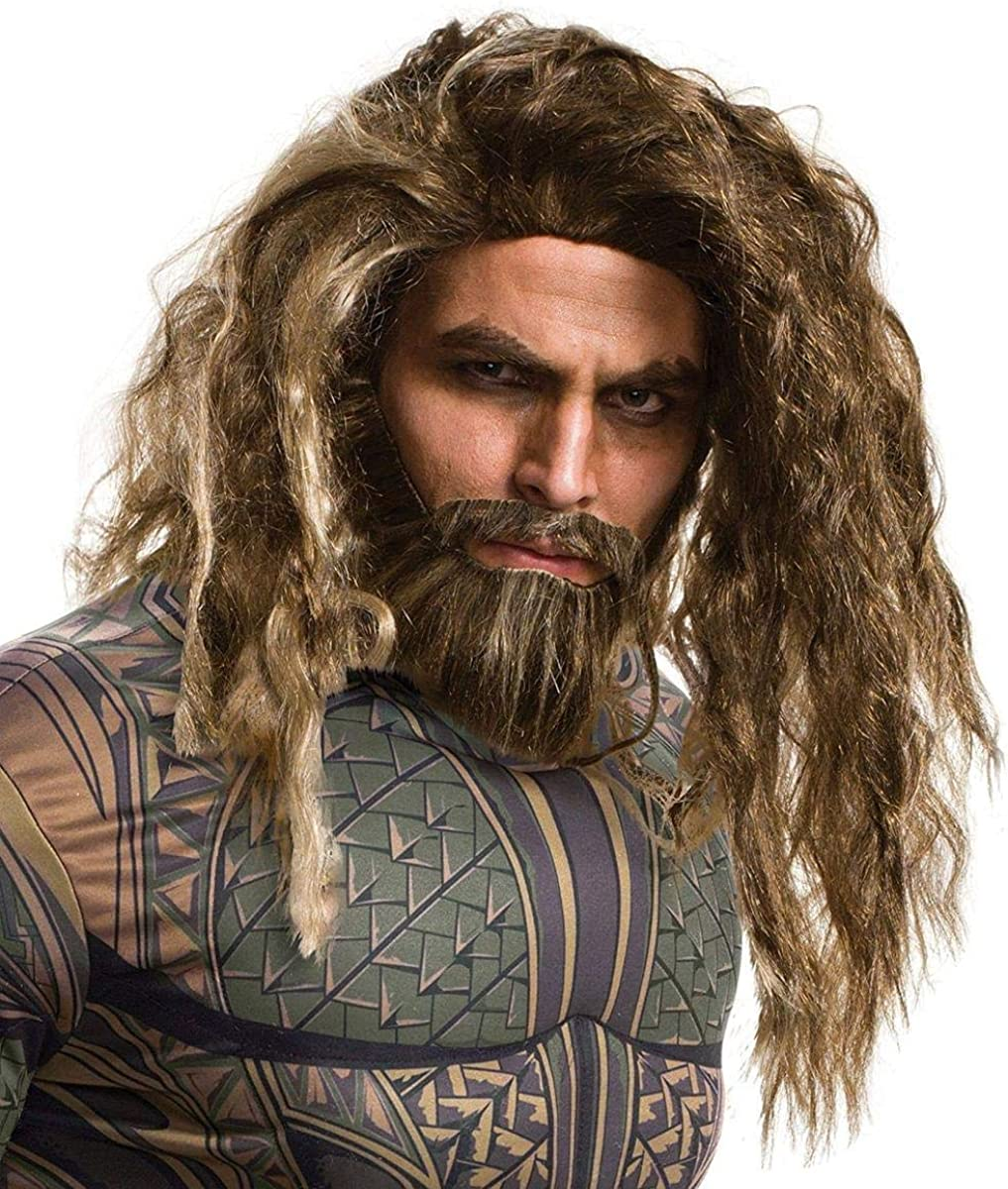 Rubie's Costume Co. Men's Justice League Aquaman Beard and Wig 71aLo-SxKDL