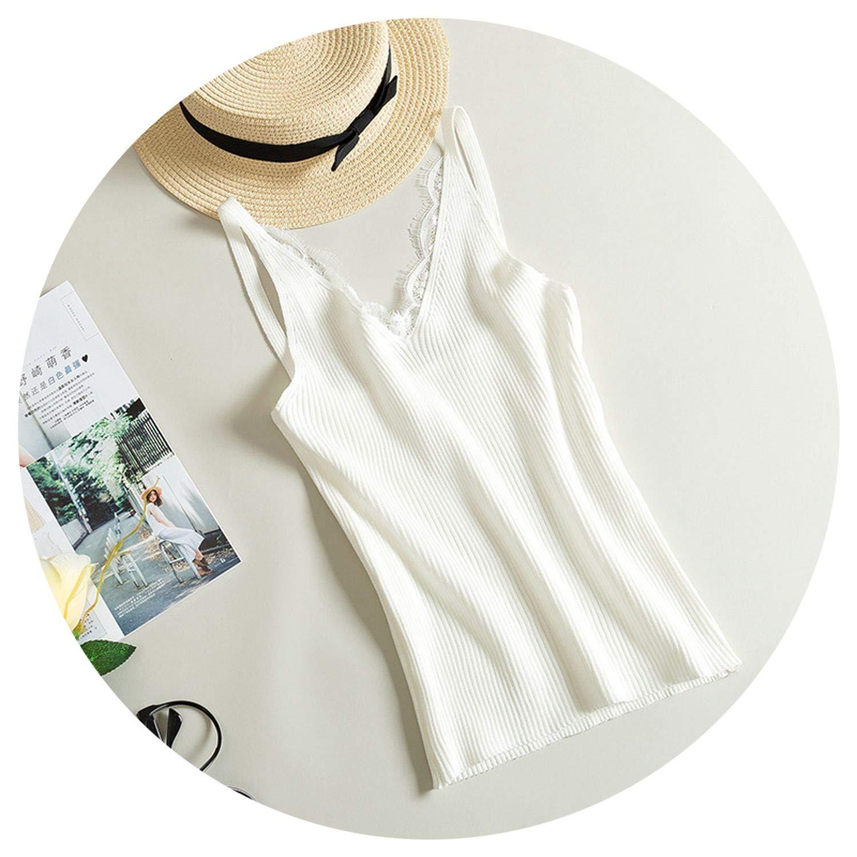 2019 Lace Womens Shirt Cotton Strap Elegant Crop Top V Neck Camis Women Short Top Party Blusa