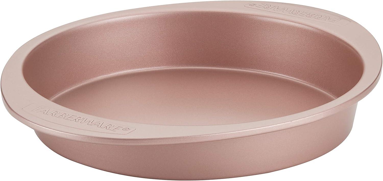 Farberware 47772 Nonstick Bakeware Baking Pan / Nonstick Cake Pan, Round - 9 Inch, Red