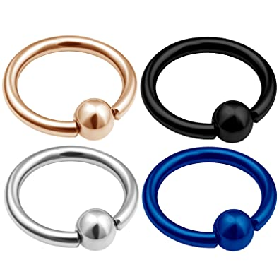 Jewelry & Accessories Body Jewelry 3pcs Mix Size Titanium Captive Hoop Rings Bcr Ring Eyebrow Tragus Ear Piercing Nose Closure Nipple Bar Lips Body Jewelry