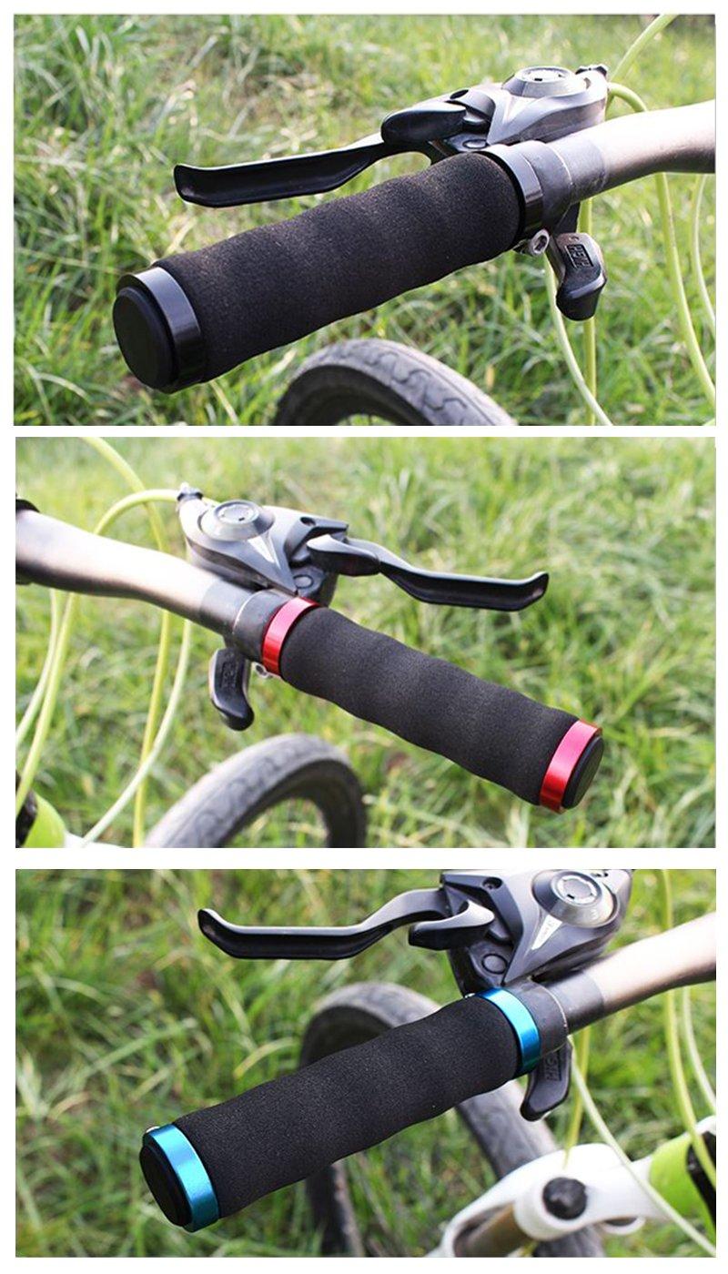 NEW BMX MTB MOUNTAIN BIKE CYCLE BICYCLE DOUBLE LOCK ON LOCKING HANDLE BAR GRIPS