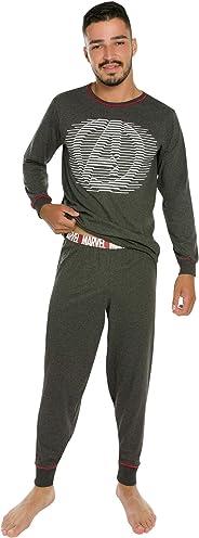 Conjunto Pijama  Avengers, Marvel, Masculino, Mescla Escuro, GG