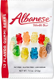 product image for 12 Flavor Gummi Bears(7.5 Oz Bag) - 12 Ct. Case (No Gluten)