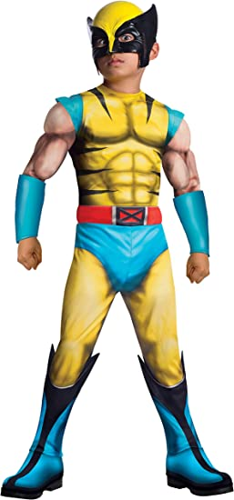Children Kids Boys Wolverine Cosplay Tight Muscle Costume Fancy Suit UK Stock