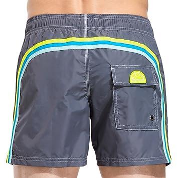 Sundek BS/RB Shorts für Herren mit elastischem Bund, grau