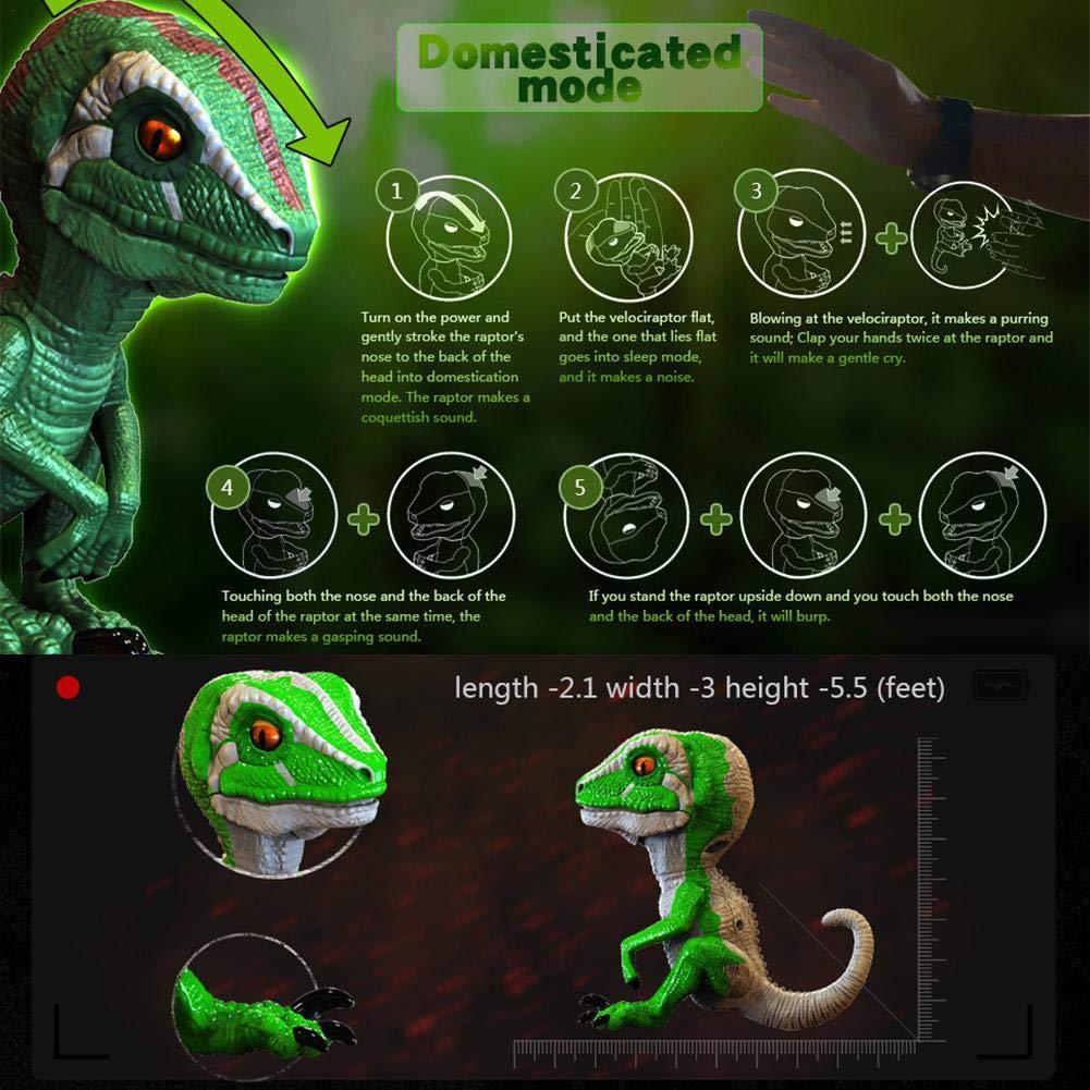 zslgogo Giocattoli di Dinosauro a Punta di Mano Giocattoli di Dinosauro interattivi Giocattoli di Dinosauro a Punta di Dito Intelligenti per Bambini