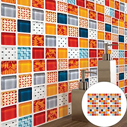 xMxDESiZ Mosaik Moderne Anti-Slip Fliesen Wandaufkleber ...