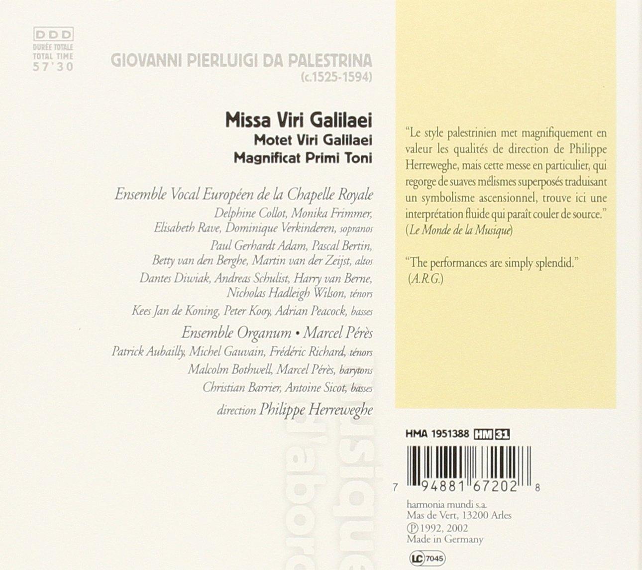 Palestrina: Missa Viri Galilaei