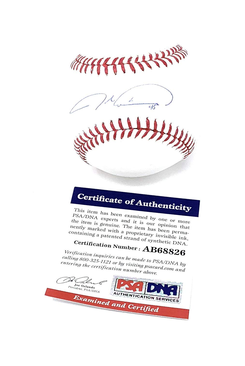 Jacob Degrom New York Mets Signed Autograph Official MLB Baseball PSA/DNA Certified