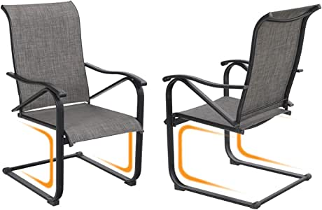 Amazon.com: Sophia & William Patio Dining Chairs 2 Pieces ...