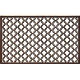 ID mate 4575Ebène antigua alfombra Felpudo goma bronce 75x 45x 0,8cm