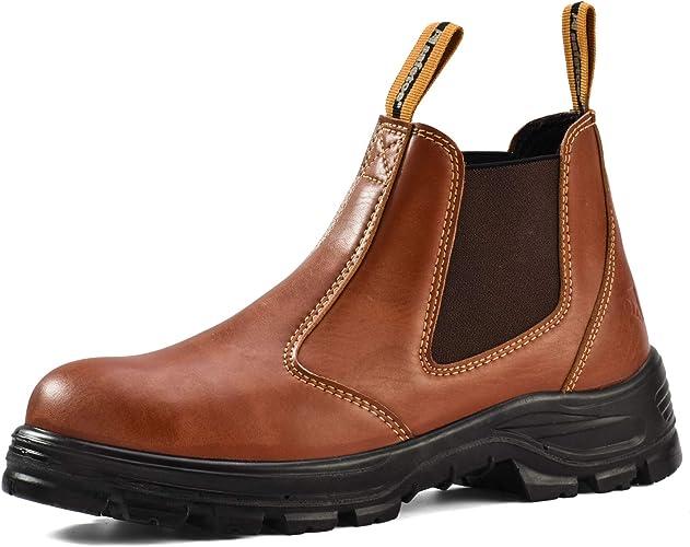 SAFETOE Stivali da Lavoro con Punta in Acciaio per Uomo