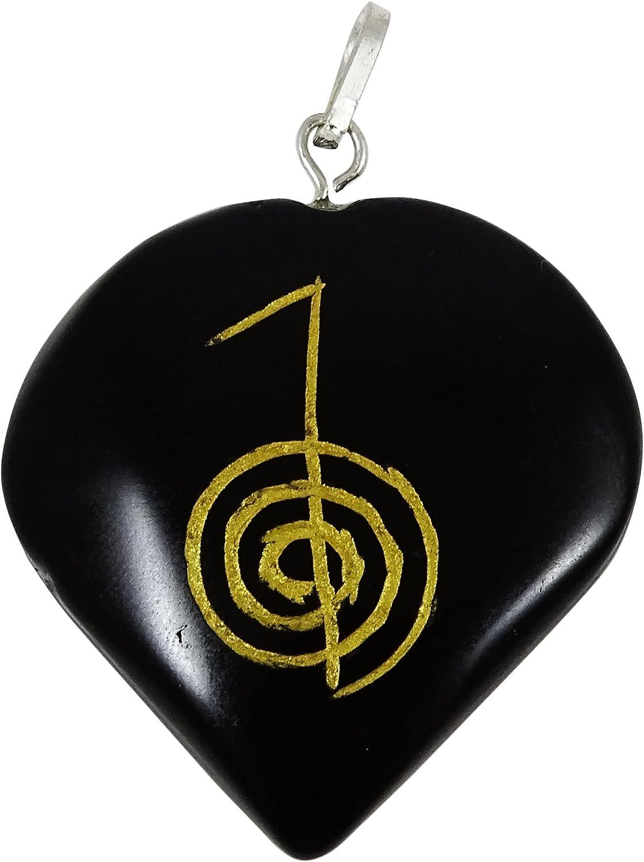 Harmonize Forma turmalina Piedra del corazón Espiritual Colgante Amuleto de Piedra símbolo de Reiki Healing