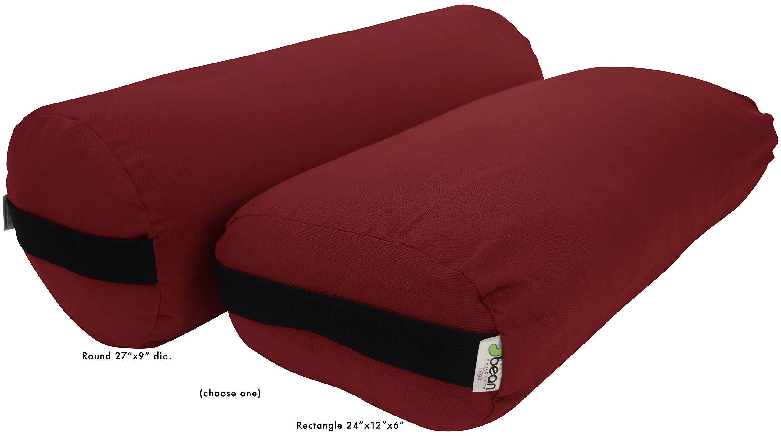 Bean Products Yoga Bolster - Cotton Rectangle - Burgundy