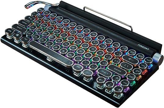 ZHEBEI Dot máquina de escribir teclado mecánico Punk teclado ...