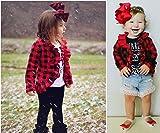 Newborn Baby Girls Ruffle Pattern Long Sleeve Red