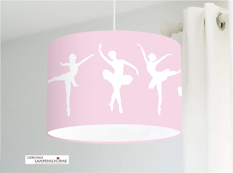 Deckenlampe mit Ballett Ballerinas in Rosa f/ür M/ädchen und Kinderzimmer