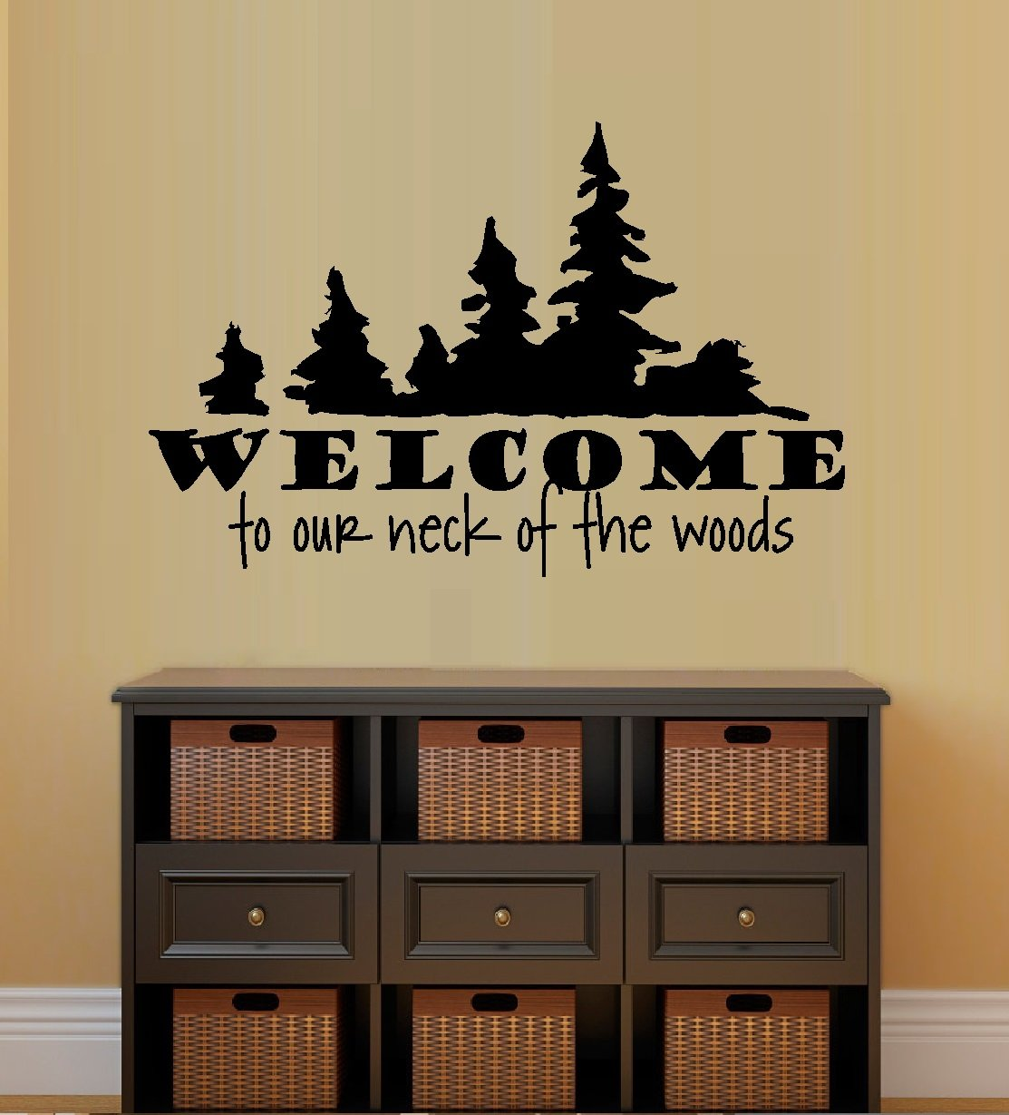 WELCOME TO OUR NECK OF THE WOODS ~ WALL DECAL, HOME DECOR 13\