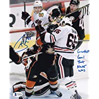 "$34 » Beckett Andrew Shaw Autographed Signed""Greatest Goal That Never Was"" Chicago Blackhawks Headbutt Goal 8x10 Photo"
