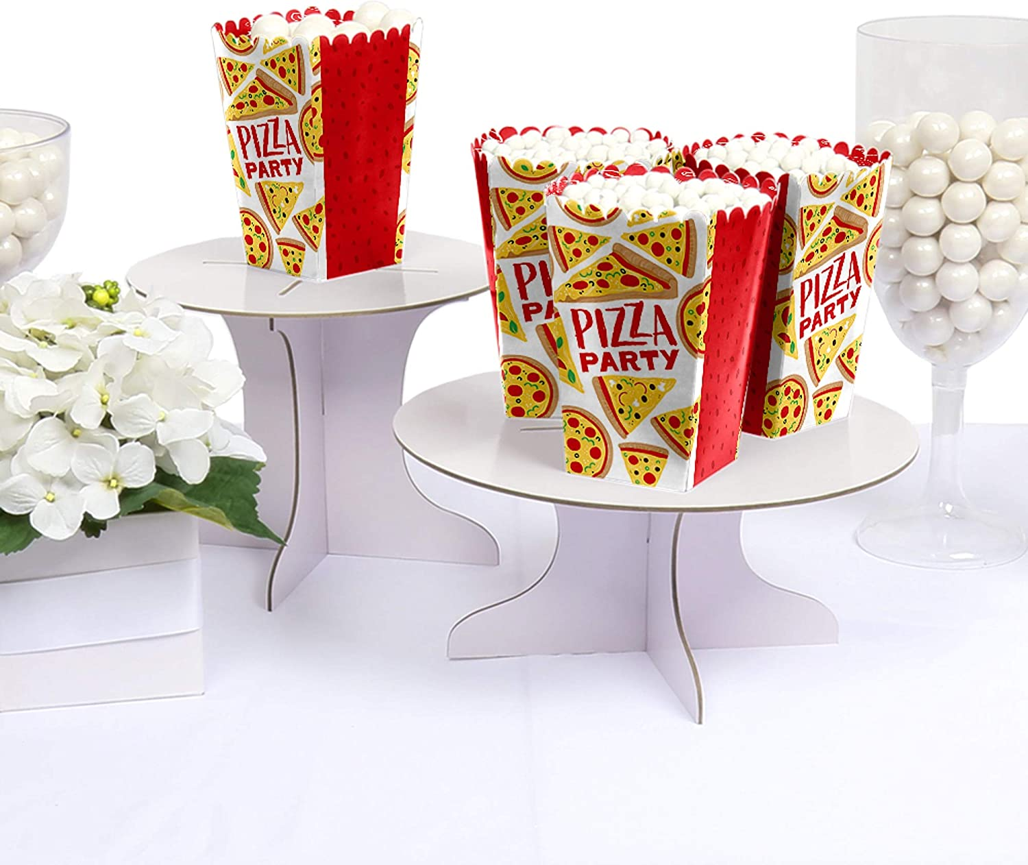 Pizza Party birthday party Favor centerpiece Pizza party decoration birthday Italian Pizza Party Favor Popcorn favor Boxes Party SET OF 12