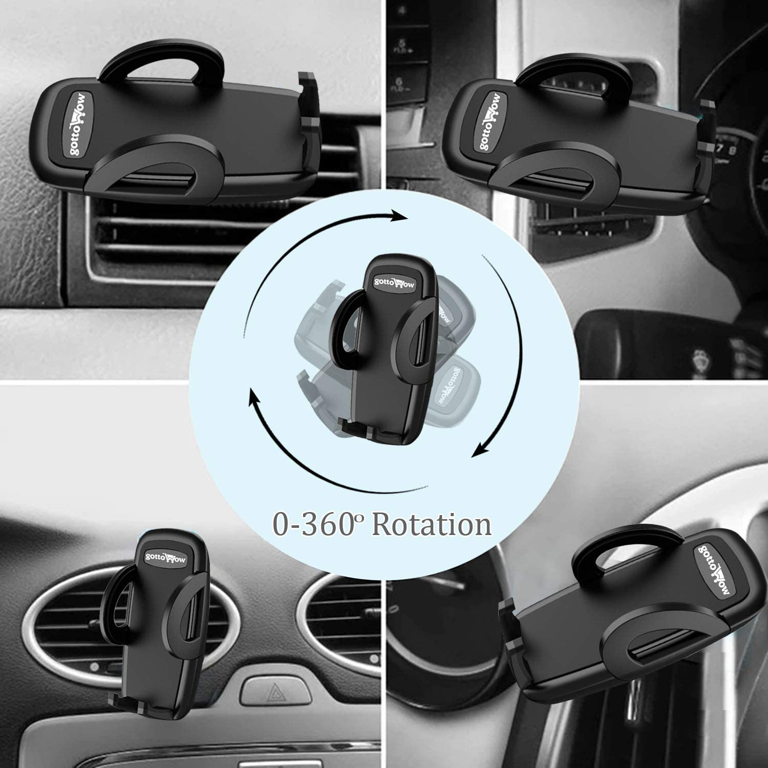 Google Pixel 3 XL Gottowow Car Phone Mount Air Vent Cell Phone Holder for Car: The Compatible Car Mount Holder with iPhone 11//11 Pro//Xs//XS Max // 8//7 // 6 and Other Samsung Galaxy S9+