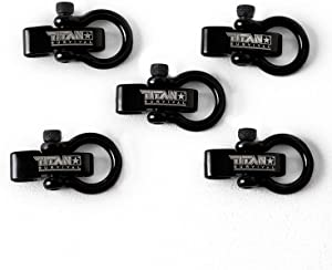 Titan Stainless-Steel Shackles for Paracord Bracelets (5-Pack) | Premium, Stylish Metal Clasps Holds Up to 1,650 LBS in an Emergency.