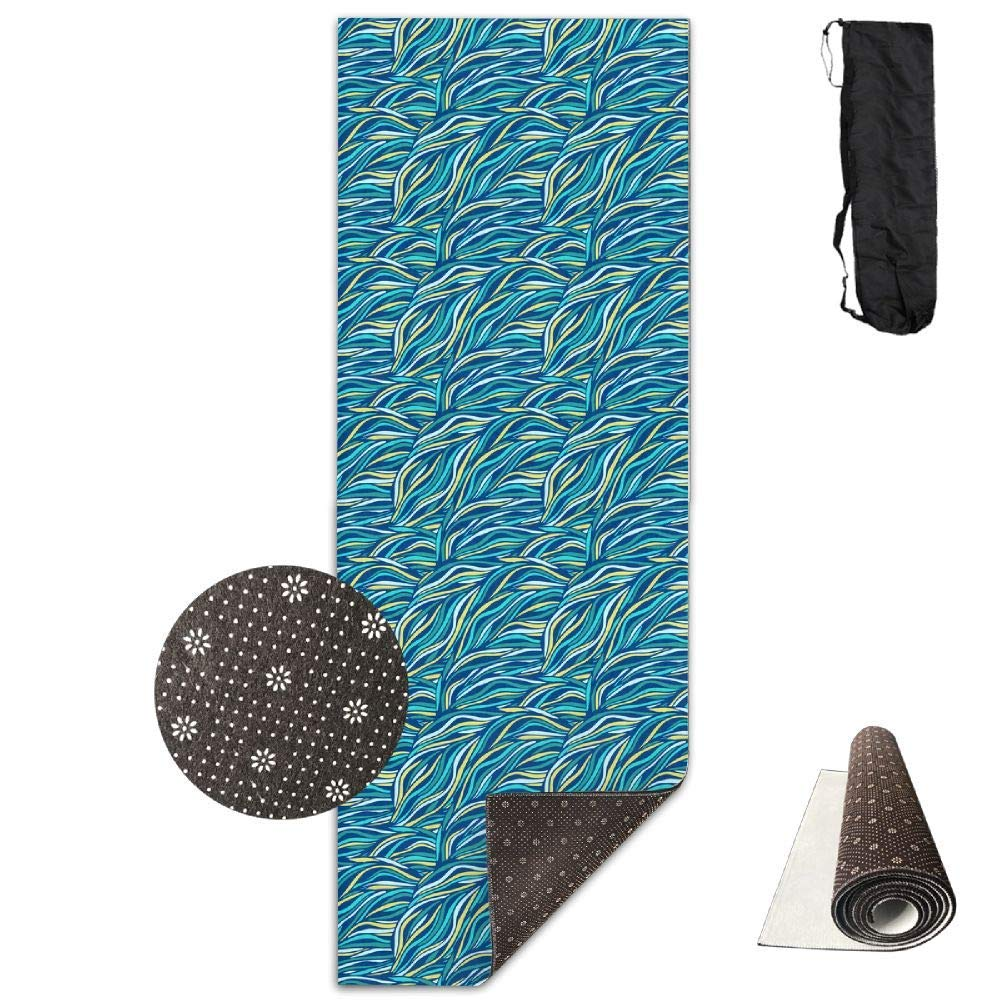 blueee Wave Background Yoga Mat Towel for Bikram Hot Yoga, Yoga and Pilates, Paddle Board Yoga, Sports, Exercise, Fitness Towel