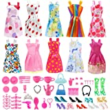 Doll Clothes for Barbie Dresses Gown with Shoes...
