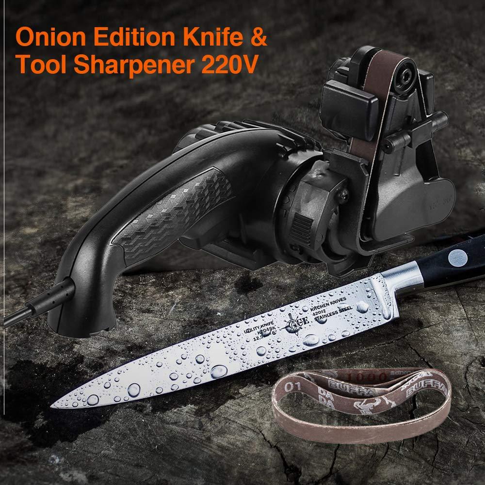 Elikliv Afilador de cuchillos el/éctrico 220V Afilador de cuchillos autoafilante Versi/ón autom/ática para afilar cuchillos Cuchillos de afilar Electrodom/ésticos de cocina