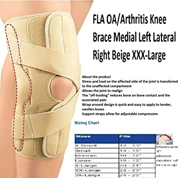 6e5c9ad627 Image Unavailable. Image not available for. Color: FLA Orthopedics OA/Arthritis  Knee Brace /3X/LEFT/BEIGE