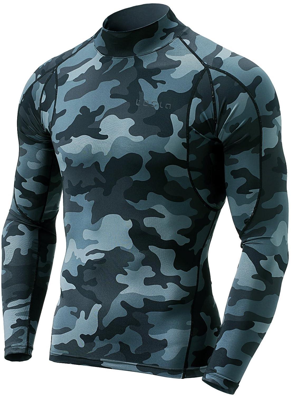 (テスラ)TESLA 長袖 ハイネック スポーツシャツ [UVカット吸汗速乾] コンプレッションウェア パワーストレッチ アンダーウェア T11 / MUT72 B07893VT2V Large|Z5-TM-MUT12-MDG Z5-TM-MUT12-MDG Large