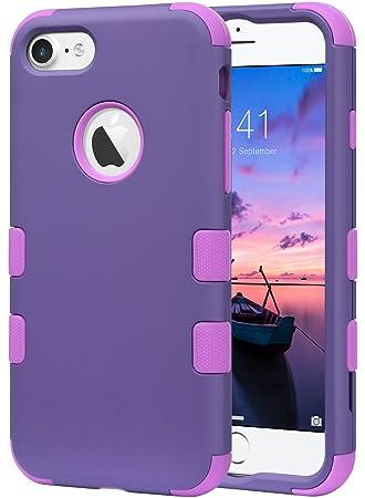 ULAK iPhone 7 Caso, iPhone 7 Funda Silicona Impermeable Caso Lujo 3in1 híbrido Impacto Antideslizante Duro Cubierta Protectora para iPhone 7 4,7 ...