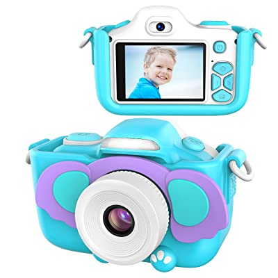 Kids Camera for Girls Gifts,TURNRAISE HD 2.0 Inches Screen 16.0MP Shockproof Selfie Toy Camera with Flashlight,Mini Child Video Camera Camcorder for 3-14 Kids with Soft Silicone Case: Toys & Games