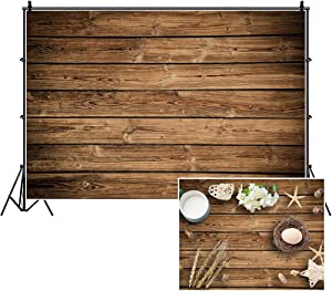 Rustic Wood Food Photography Backdrop,Yeele 10x8ft Vinyl Brown Wooden Plank Wall Floor Photo Background,Baby Shower Birthday Party Cake Table Decoration Banner Newborn Kids Portrait Photoshoot Prop