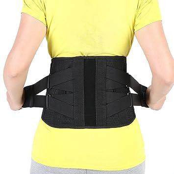 1e59eb62694 Adjustable Lumbar Support Belt Lower Back Brace Posture Corrector Waist  Wrap for Sciatica Back Pain Relief