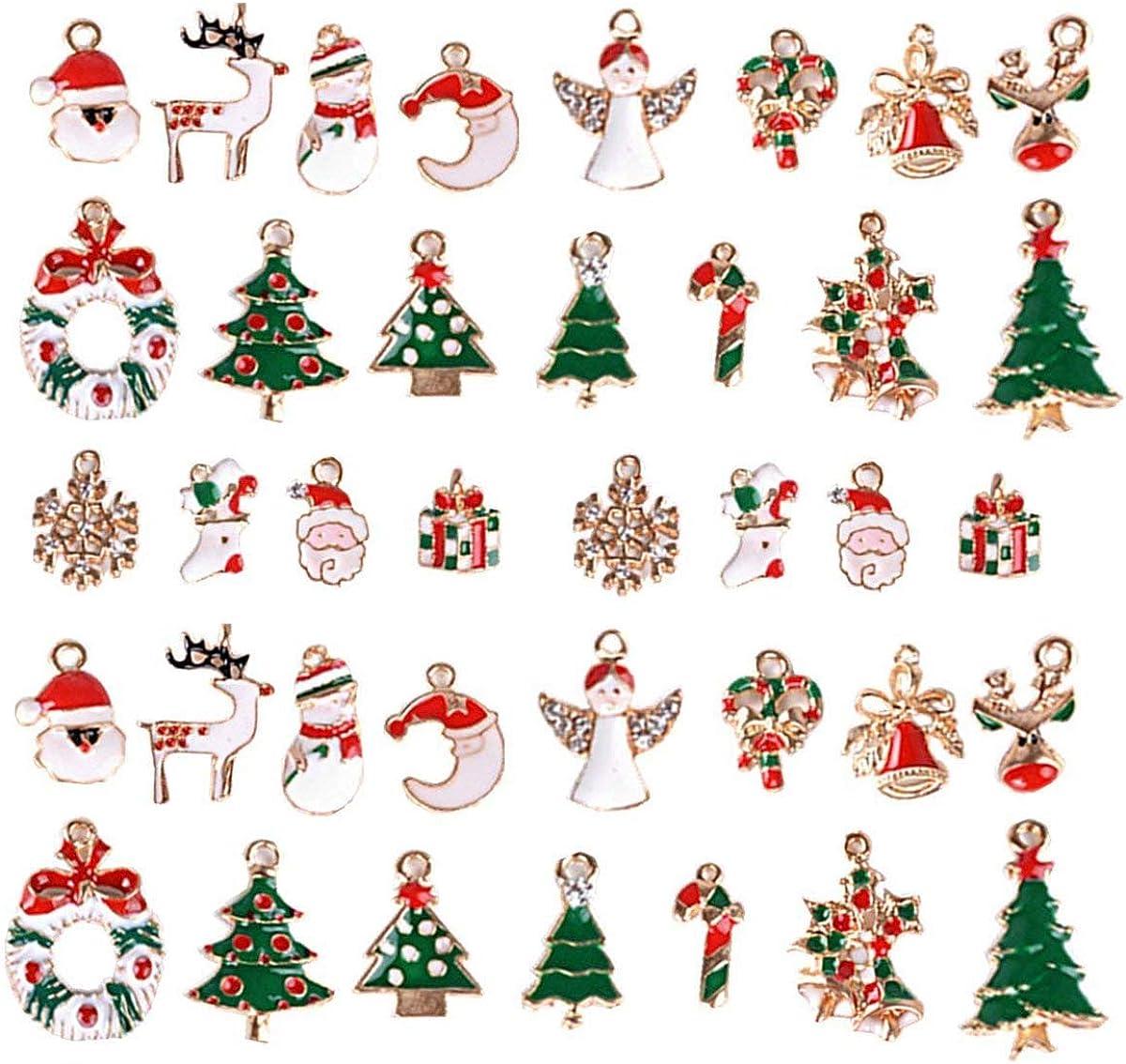 Weihnachten Charms Mini Anhänger Mixed Weihnachten Hängeornamente Set Für Diy Schmuck Halskette Armband Machen 38 Stück