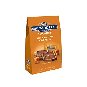 Ghirardelli Milk and Caramel Filled Squares Large Bag, 9.04 Ounce