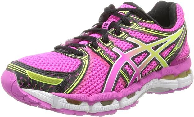 Asics Women S Gel Kayano 19 W Neon Pink Sunshine Black 12 5 B M Us Amazon Ca Shoes Handbags