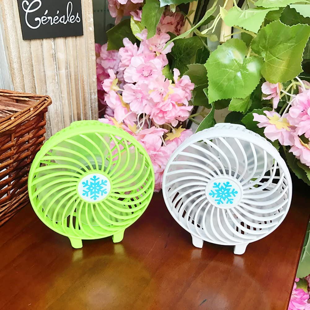 Home Life Office Holiday Gifts. ?Mini Handheld Fan Maserfaliw Portable USB Rechargeable Lighting Mini Hand Held Travel Switch Fan Air Cooler White